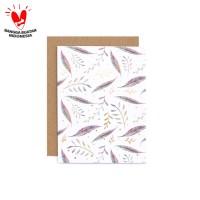Kartu Ucapan Motif Harvest - Warm Wishes Feather