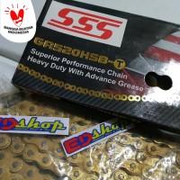 rantai SSS HSBT 520 / 110L GOLD buat CBR 250 NINJA 250 N250 Z250 TIGER