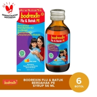 Bodrexin Flu & Batuk Berdahak PE Syrup [56 mL/6 Botol]