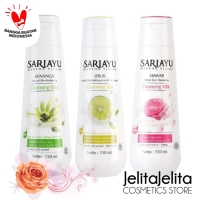 SARIAYU MILK CLEANSER JERUK / MAWAR / KENANGA 100ML / PEMBERSIH MAKEUP