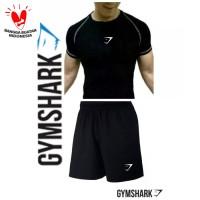 Stelan Kaos CPC GYMSHARK + CELANA SPORT Olahraga fitnes Baju gym