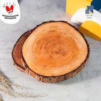 Wooden Coaster / Tatakan Kayu / Slice / Potongan Kayu / 15-18cm