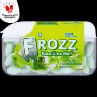 FROZZ Lime Mint permen bebas gula, rendah kalori & dingin menyegarkan