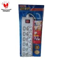 KenMaster Stop Kontak / Colokan Listrik 6 Socket / Lubang On Off F166