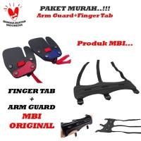 Paket Finger Tab + Arm Guard Panahan Original MBI