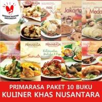 PAKET SUPER HEMAT PRIMARASA 10 BUKU KULINER KHAS NUSANTARA