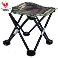kursi lipat mancing kotak desain army
