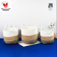 Seda Basket PNA / Keranjang Anyaman / Cover Pot / Laundry Bag
