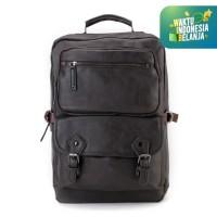 Urban State - Pu Buckled Zipper Backpack - Brown
