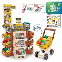 Mainan Anak Set Simulasi Supermarket ~ HOME SUPERMARKET PRETEND PLAY