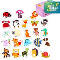Mainan Edukasi Anak PARING PUZZLE Cognitive ~ Animal-Traffic-Fruit