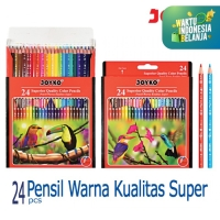 Pensil warna Superior Quality 24 Warna Color Pencil CP-106 Joyko