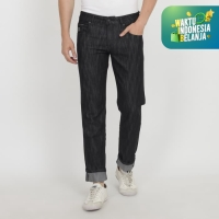 Papperdine Jeans 007 Slim Fit Black 'Selvedge'