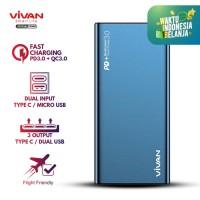 Powerbank Dual USB VIVAN Power Bank 10000mAh 18W Quick Charge VPB-F10S