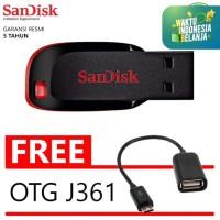 Flashdisk Sandisk Cruzer Blade 64GB BONUS OTG C110 Flasdisk Flash Disk