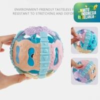 Mainan Baby RATTLE TEETHER BALL/Bola Kerincingan Lampu dan Music