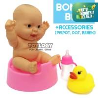 Mainan Anak Perempuan Boneka Bayi Baby Doll Lucu Pispot Bebek Karet