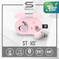 SOUL ST-XS2 High Performance Earphones Headset with Bluetooth - Merah Muda