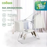 COOGER Rak Jemuran Stainless Steel Rak Jemuran Baju Sepatu Foldable
