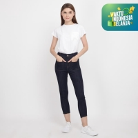 Papperdine Jeans 1103 High Waist Wanita Stretch Raw