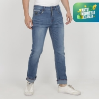 PAPPERDINE JEANS 212 Bleach Selvedge Stretch Celana Pria Panjang