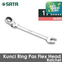 Flex Head Ratcheting Ring Pas 11 mm 46402 SATA TOOLS