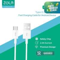 Zola C10 Kabel Data Charger Usb Type-C 100cm Fast Charging Cable 2.4A