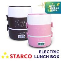 Starco Electric Lunch Box Mini/Mini Rice Cooker Multifungsi 2 Tingkat