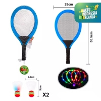 Mainan Anak Set Raket Lampu Bulutangkis ~ LIGHT BADMINTON RACKET