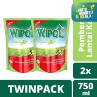 Wipol Pembersih Lantai Sereh & Jeruk 750Ml Twin Pack