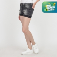 Papperdine 1501 Natural Ladies Hot Pants Celana Pendek Jeans Wanita