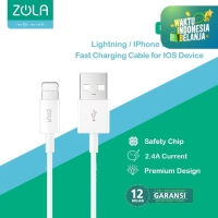 Zola L10 Kabel Data Charger Lightning 100cm Fast Charging Cable 2.4A
