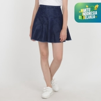 Papperdine 1601 Enzyme Skirt Denim Rok Jeans Wanita Non Stretch