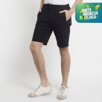 Papperdine Eazy Black Short Pants Stretch Chinos Celana Jeans Pendek