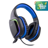 DAREU EH-721 Gaming Headset 7.1 Surround Sound - Biru