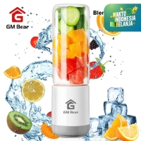 GM Bear Portable USB Blender Kaca 4 Mata Pisau-Portable Blender Juicer