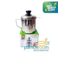 Pamosroom Oil Pot Stainless Steel 1100 ml Wadah Minyak Goreng Bekas
