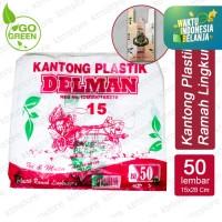 Kantong Plastik Kantong Kresek Ramah Lingkungan Go Green ukuran 15