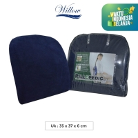 Bantal Punggung Memory Foam / Willow Pillopedic Office Support BLUE