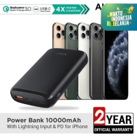 Aukey Powerbank 10000mAh with Lightning Input & PD for Iphone - 500382