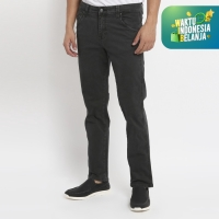 Papperdine 216 D.Grey Straight Fit Celana Panjang Pria Chinos Stretch