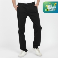 Papperdine ZM 4370 Celana Chinos Black Regular Fit Cinos Kantong Bobok