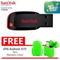 Flashdisk Sandisk Cruzer Blade 16GB BONUS OTG C117 Flasdisk Flash Disk