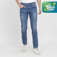 PAPPERDINE JEANS 611 Bleach Selvedge Stretch Celana Pria Panjang