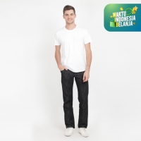 Papperdine 007 Black Regular Fit Celana Panjang Jeans Pria