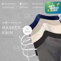 Smith Berlin Masker Kain 3 ply nyaman dan lembut ISI 3