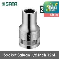 SATA TOOLS Socket Satuan 1/2 Inch 27 mm 12 point 13616