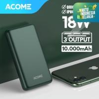 ACOME Powerbank 10000mAh QC 3.0 - 2 Output - Garansi 18 Bulan - AP102