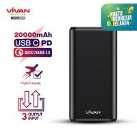 VIVAN Powerbank 20000mAh 3 Input & 3 Output Power bank VPB-H20S
