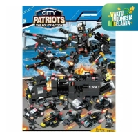 Mainan Anak DIY Building Block S.W.A.T City Patriot - Block Police